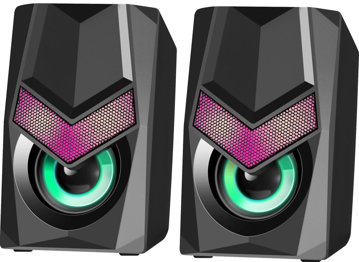 Акустическая 2.0 система Defender Solar 1, 6 Вт, подсветка, питание от USB, арт. 65401