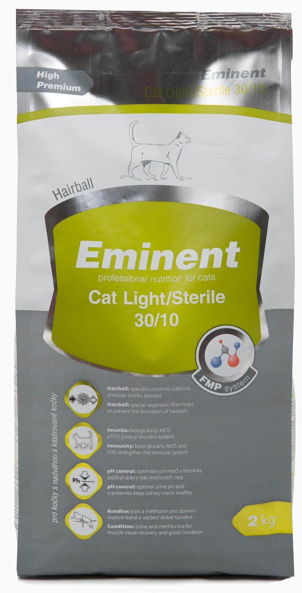 Сухой корм для взрослых кастрированных котов и стерилизованных кошек Eminent