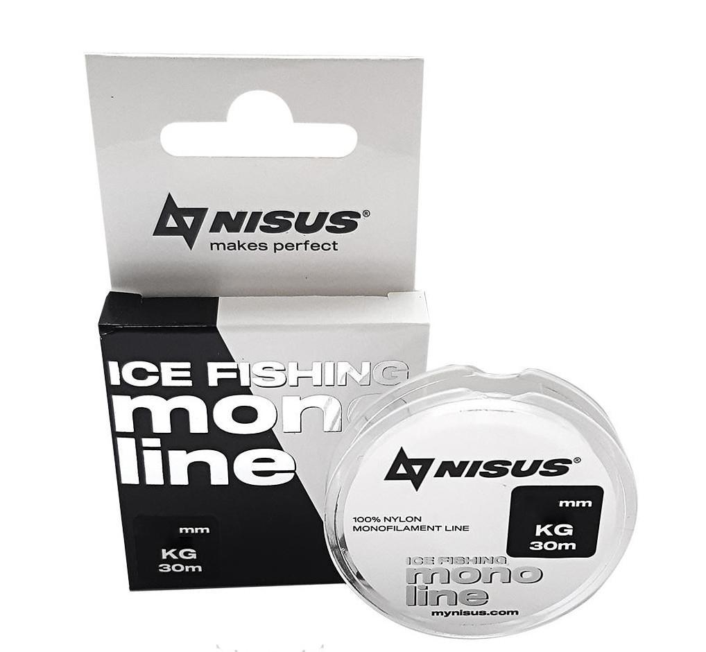 "Леска монофильная Nisus ""ICE FISHING Transparent"", 30 м, 0,18 мм, нейлон, 1 кг (N-MIF-018-30)"