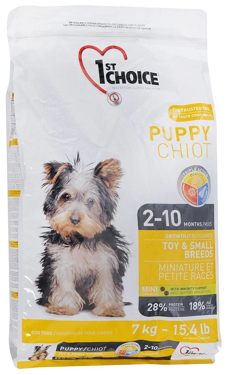 """Сухой корм для щенков миниатюрных и мелких пород 1st Choice """"Puppy Chiot"""", с курицей, 7 кг"""