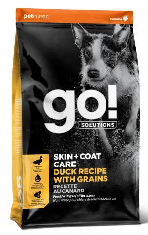 """Сухой корм для щенков и собак GO! """"Solutions Skin + Coat Care"""", с цельной уткой и овсянкой, 1,59 кг"""