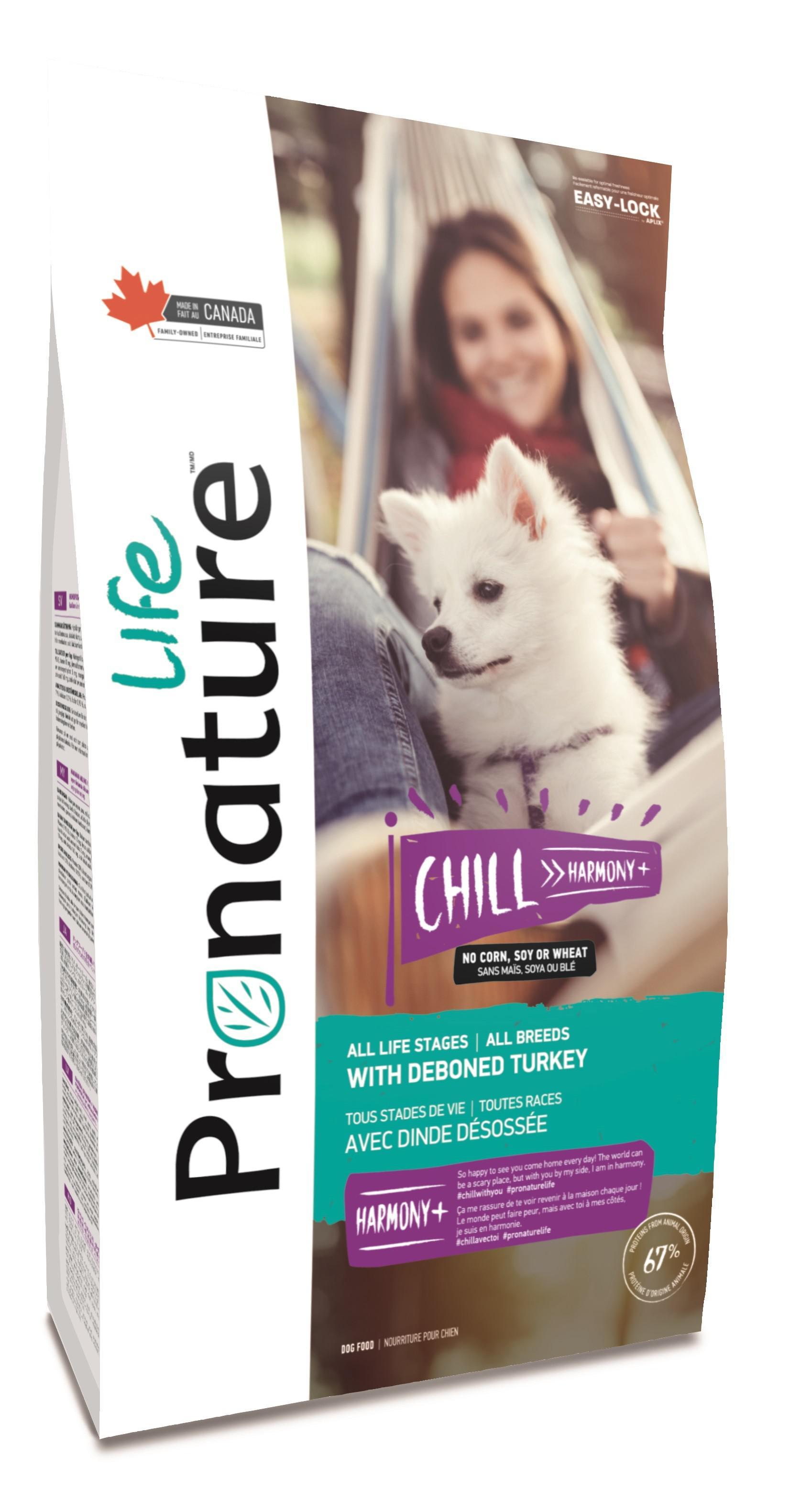 """Сухой корм для собак Pronature Life """"Chill Harmony"""", с индейкой, 11,3 кг"""
