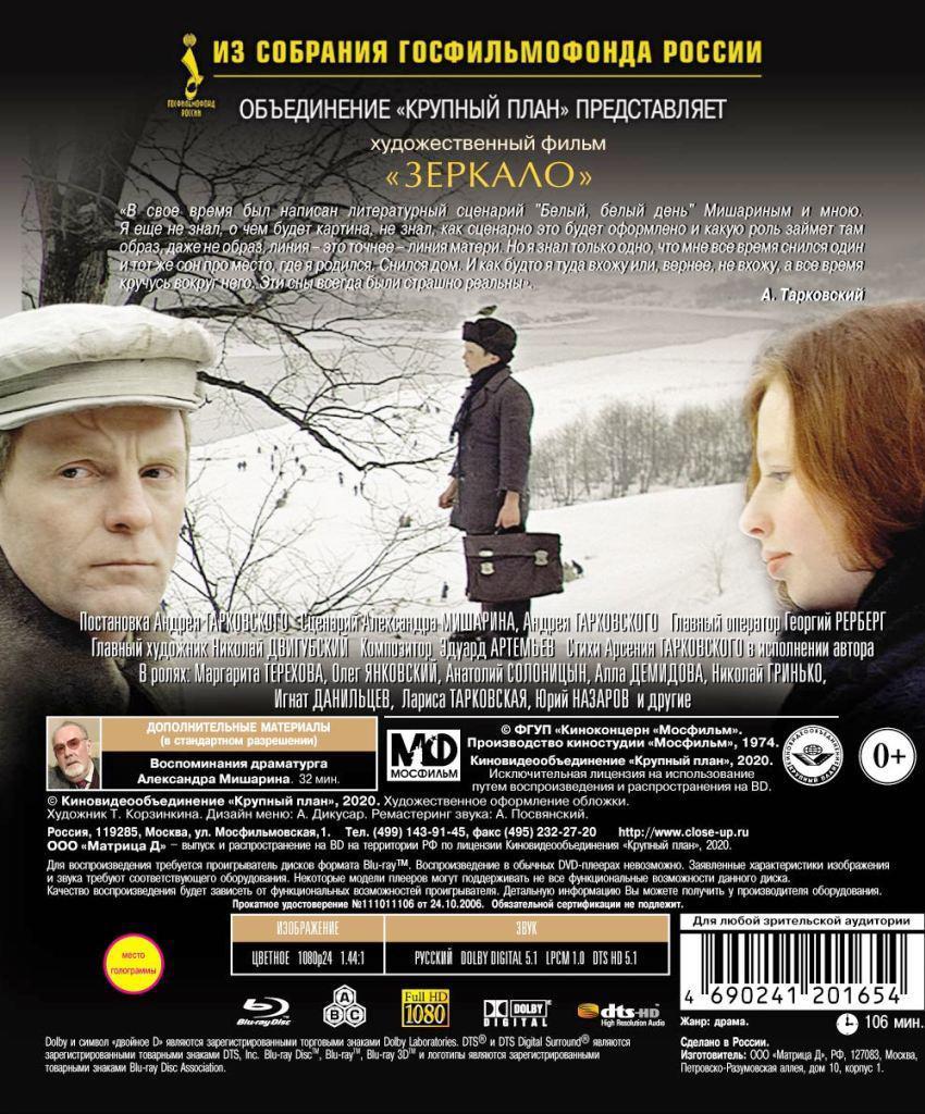 Blu-ray. Зеркало