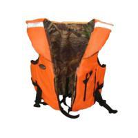 Жилет страховочный Д Alaska для рыбалки и охоты, расцветка: камуфляж, размер XL (56-58)