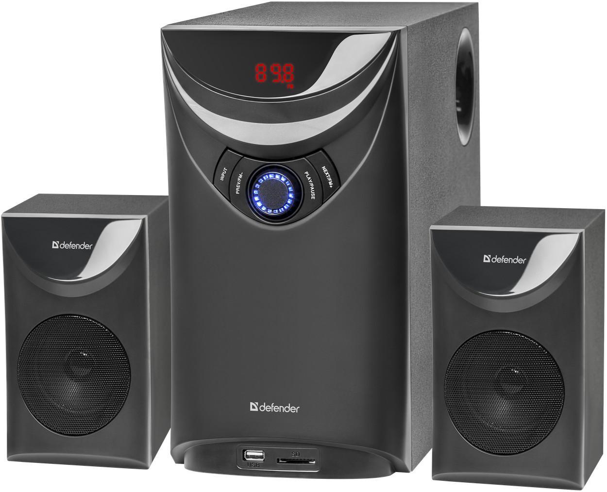 Акустическая система 2.1, Thunder 60 Вт, Bluetooth, FM/MP3/SD/USB, арт. 65594