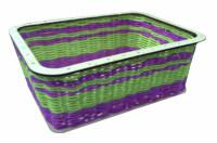 Набор для плетения из ротанга, корзинка средняя прямоугольная