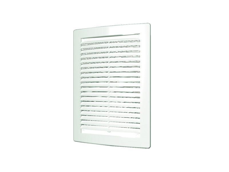 Решетка вентиляционная, с сеткой, неразъемная, наклонные жалюзи: 200x300 мм