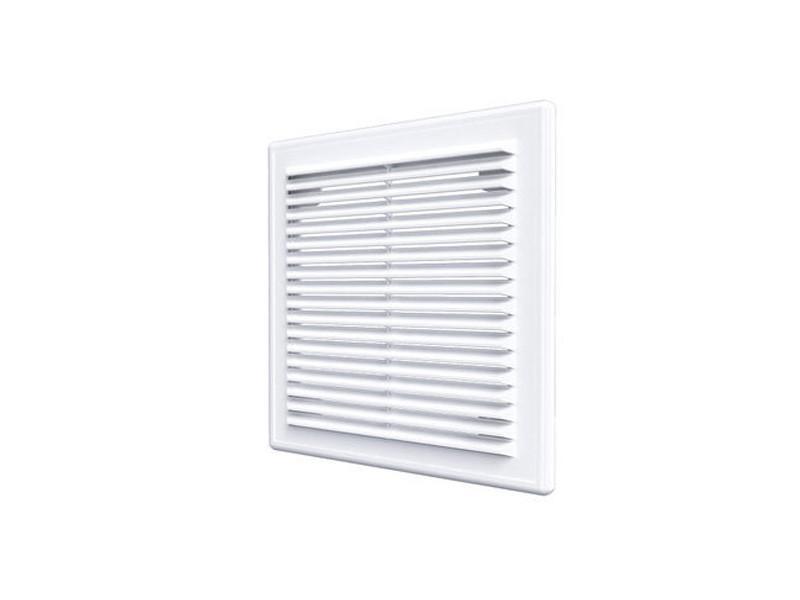 Решетка вентиляционная, неразъемная, наклонные жалюзи: 183x253 мм