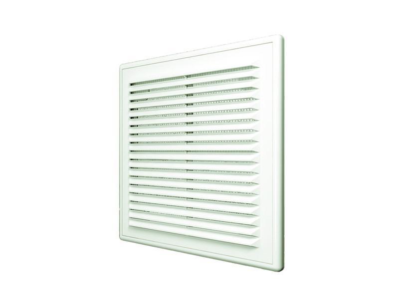 Решетка вентиляционная, с сеткой, разъемная, наклонные жалюзи: 150x150 мм