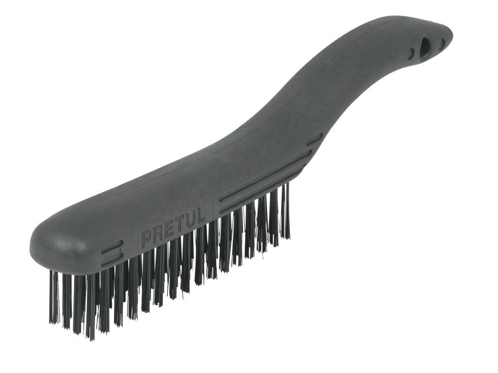 Корщётка Truper с щетиной из углеродистой стали, 26,5 см (черная)