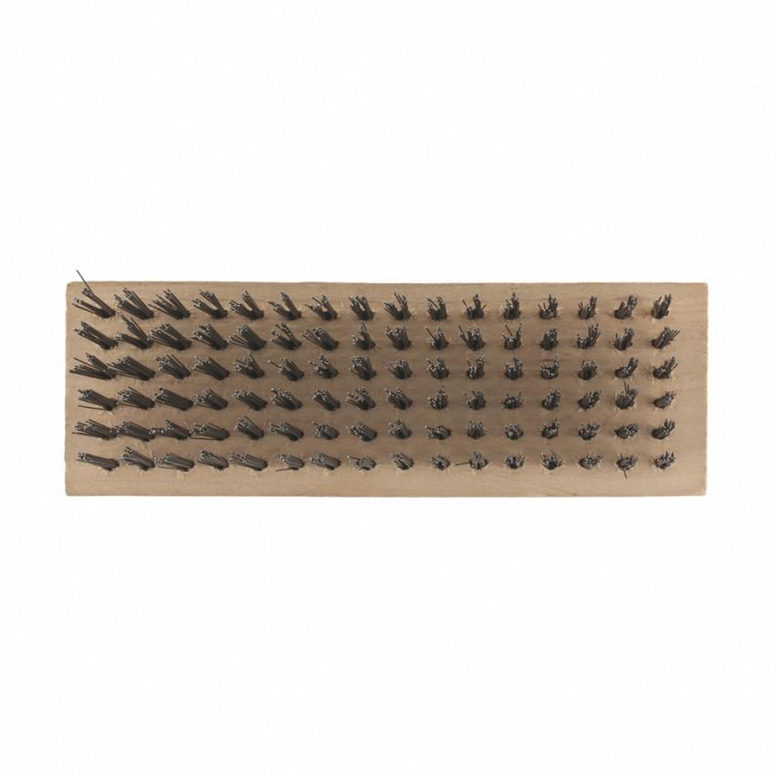 Щетка зачистная 6-и рядная, закаленная прямая проволока, плоская, деревянная