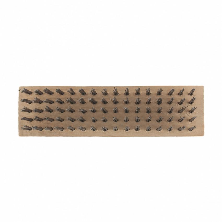 Щетка зачистная пятирядная, закаленная прямая проволока, плоская, деревянная