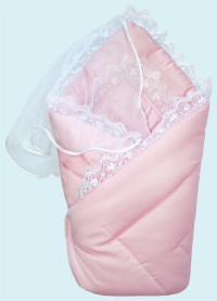 Конверт-одеяло на выписку Little People (зима), цвет: розовый