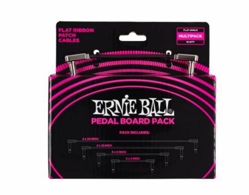 Набор кабелей соединительных Ernie Ball 6224, цвет: черный