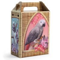 Домик - переноска для декоративных птиц, 15,5x8,2x24,2 см