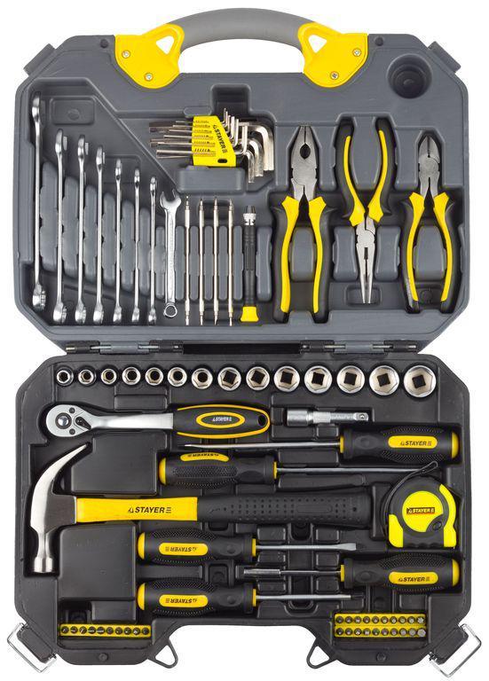 Универсальный набор слесарного и столярного инструмента (78 предметов)