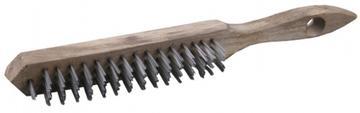 Щетка стальная с деревянной рукояткой (3 ряда)