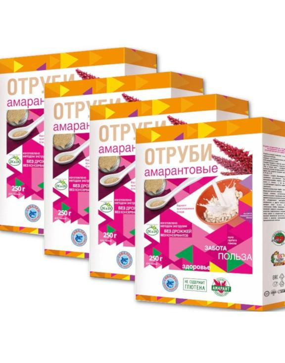Отруби амарантовые Di&Di, без глютена, 4 штуки по 250 грамм