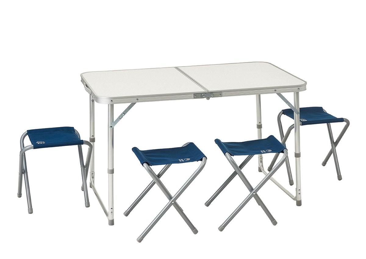 Набор мебели складной JUNGLE CAMP Event 95 Blue, кемпинговый, 95х61х60 см, алюм.
