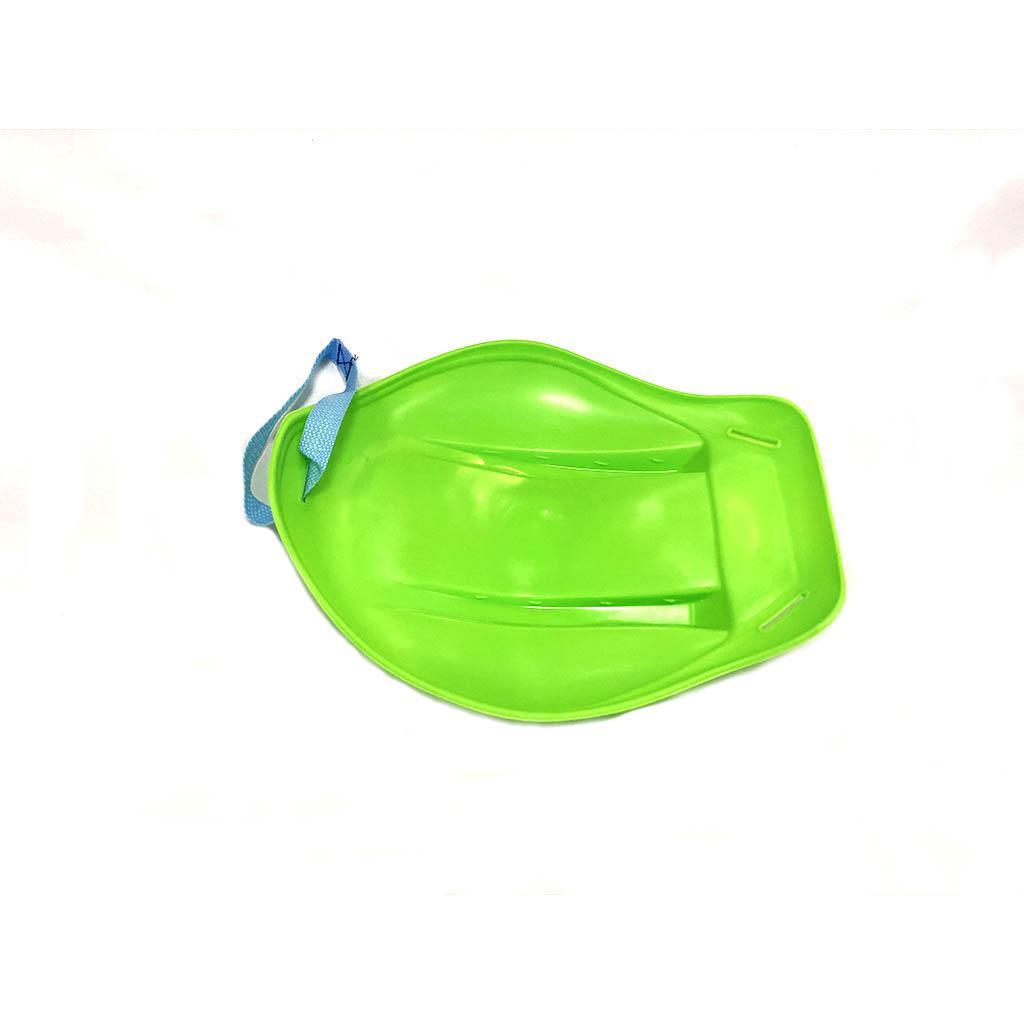 Санки-ледянки, с ручкой-ремнем, цвет зеленый