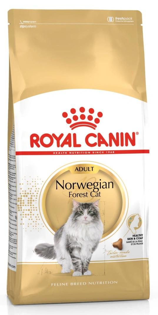 Сухой корм для кошек породы норвежская лесная Royal Canin