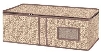 Ящик раскладной универсальный для хранения вещей и обуви, 60х30х20 см, цвет бежевый, коричневый (арт. В-21)