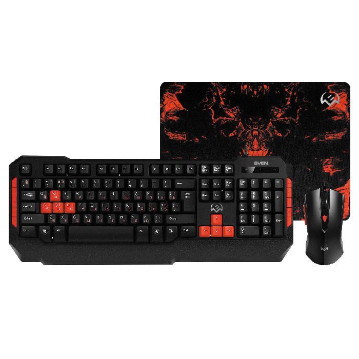 Игровой набор: клавиатура + мышь + коврик Sven GS-9000, арт. SV-018863