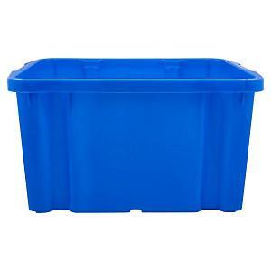 Ящик для хранения штабелируемый, 60 л, цвет: синий