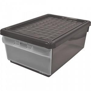 Ящик для хранения с боковой дверцей, 15 л, цвет: дымчатый