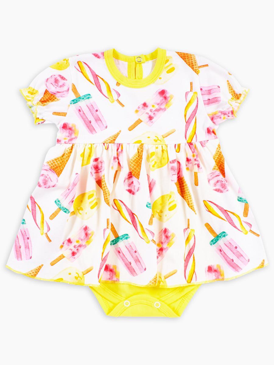 Боди-платье с коротким рукавом