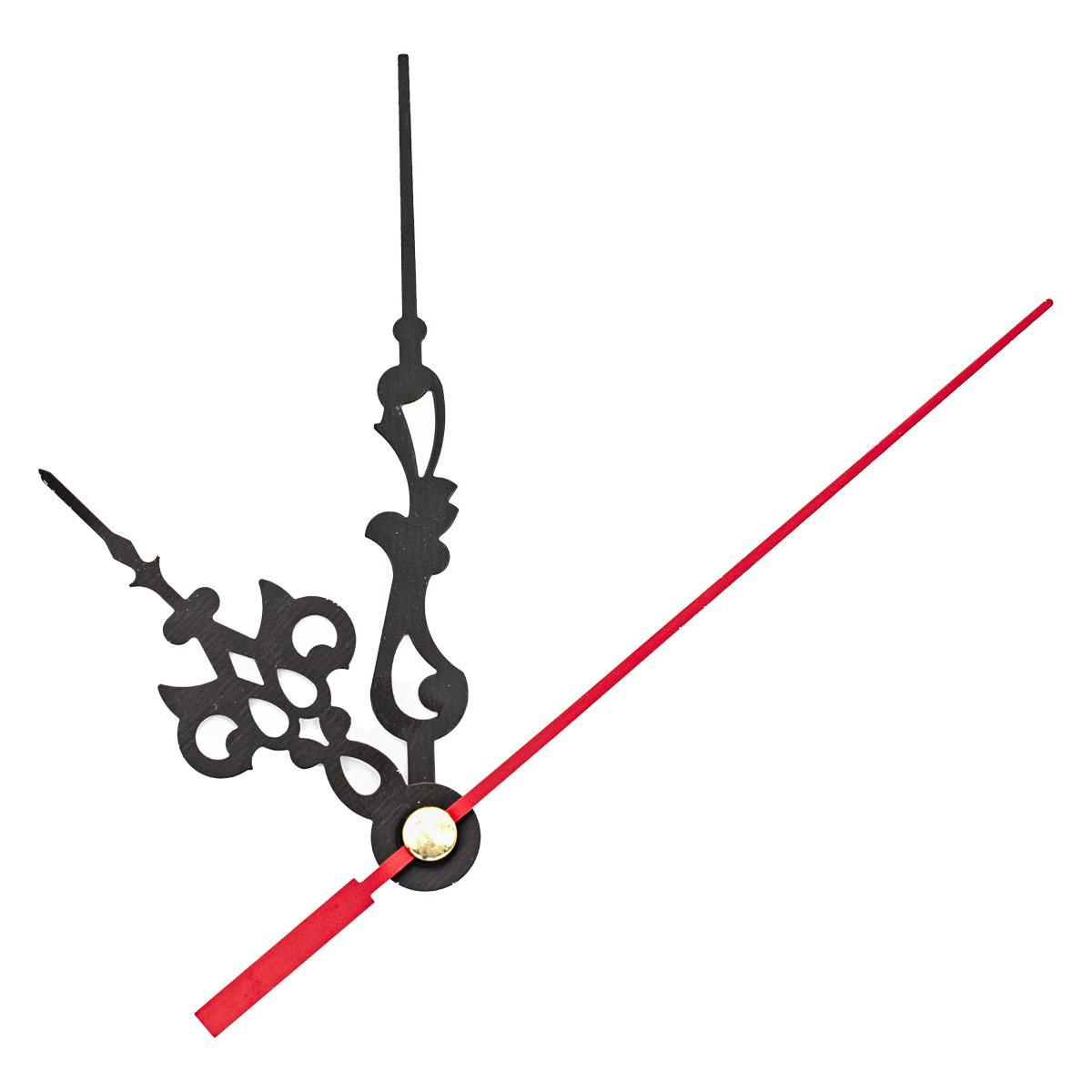 Набор стрелок часовых, 58/87/90 мм, 3 штуки, цвет красный (арт. 5AS-069)