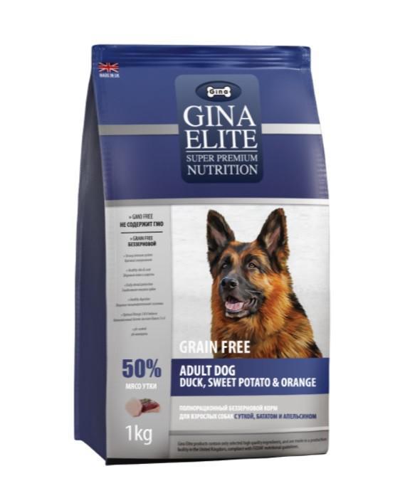 Сухой корм беззерновой для собак Gina