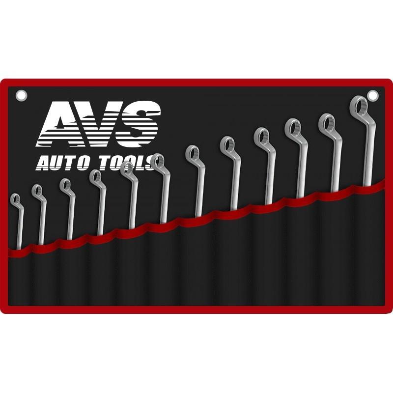 Набор ключей гаечных накидных изогнутых AVS K2N12M, 6-32 мм (12 предметов)