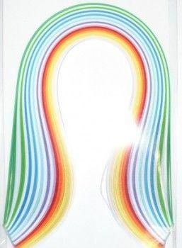 Набор бумаги для квиллинга, полоски, 0,3x30 см, 12 цветов, 100 штук