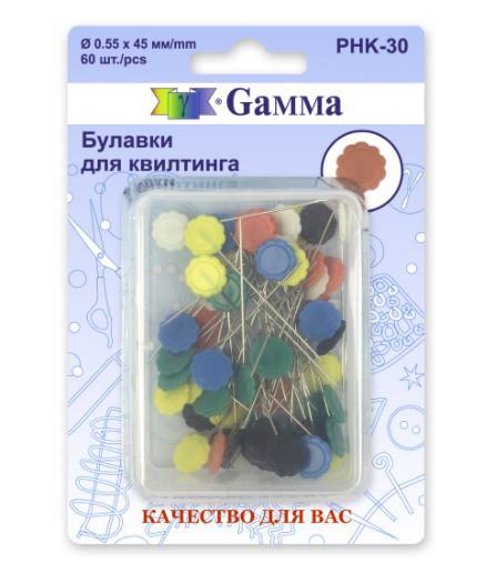 Булавки для квилтинга Gamma, 45 мм, 60 штук, арт. PHK-30