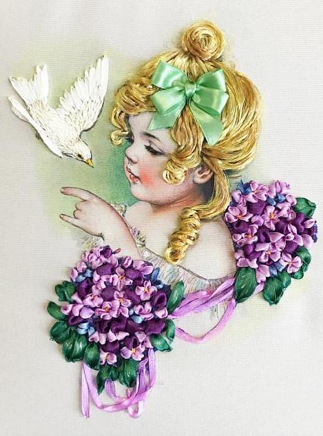 Набор для вышивания лентами Многоцветница