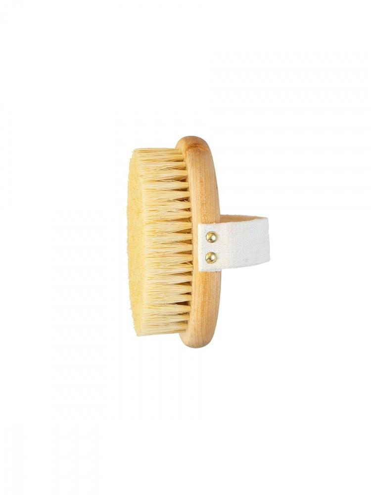 Массажная щётка для сухого массажа Lei, с ремешком, натуральная щетина