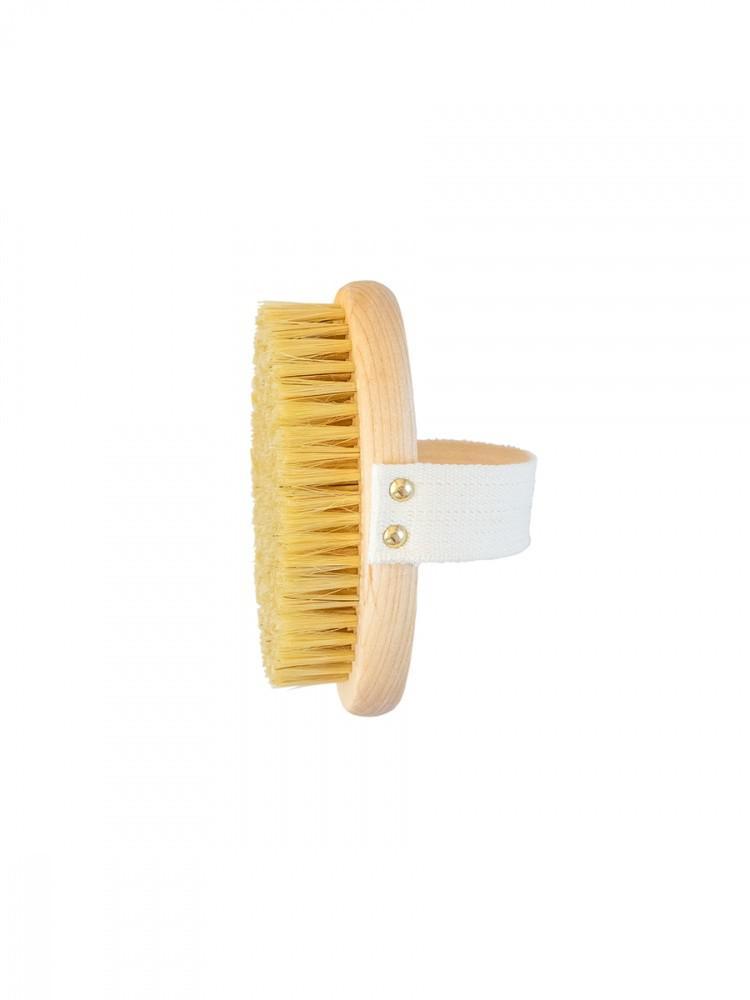Массажная щётка для сухого массажа Lei, с ремешком, тампико