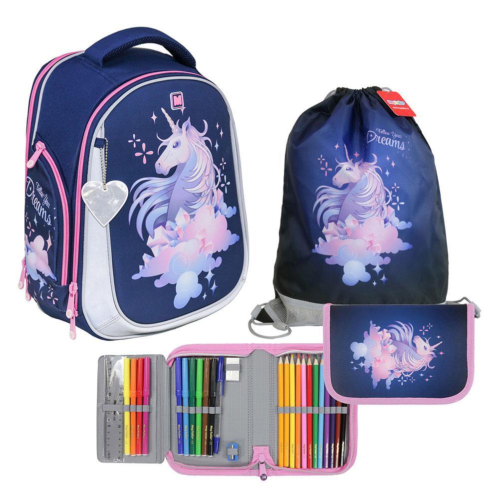 """Рюкзак школьный """"Unni. Unicorn"""", с наполнением"""