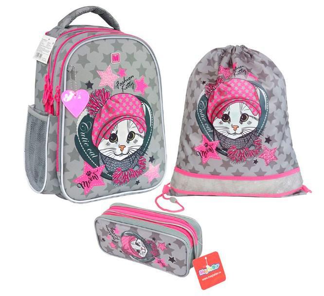 "Рюкзак школьный ""Be-cool. Fashion Kitty"", с наполнением"