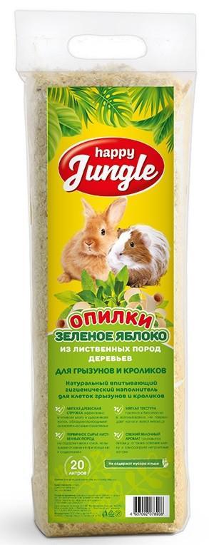 Опилки для грызунов и кроликов Happy Jungle