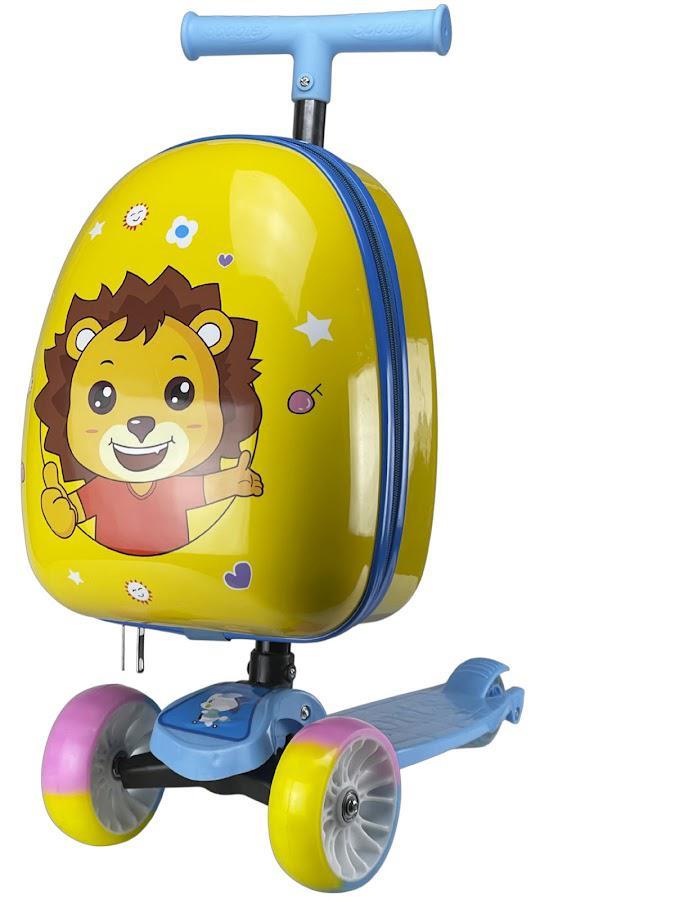 Самокат детский с чемоданом Like Goods