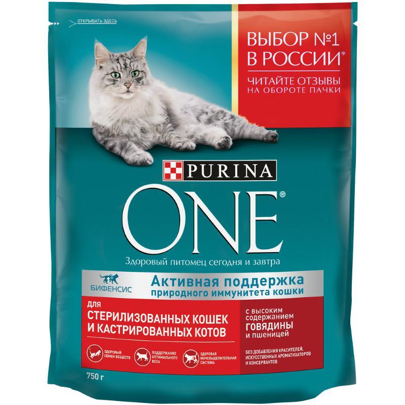 Сухой корм для кастрированных и стерилизованных кошек Purina ONE