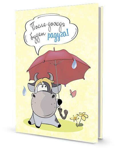 Блокнотик с бычками. Радужные перспективы. После дождя будет радуга