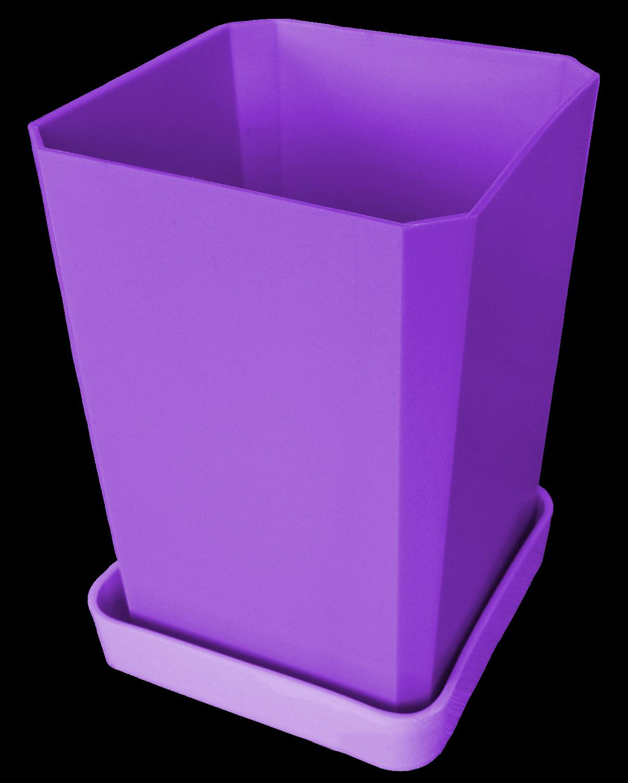 Горшок для рассады, 750 мл, цвет фиолетовый