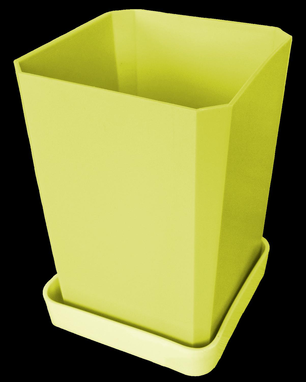 Горшок для рассады, 750 мл, цвет желтый