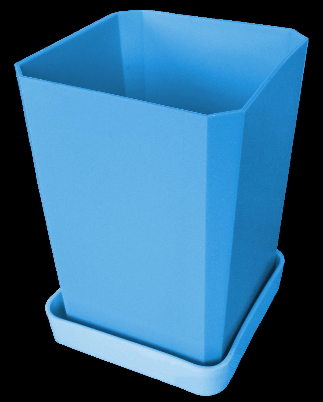 Горшок для рассады, 750 мл, цвет голубой