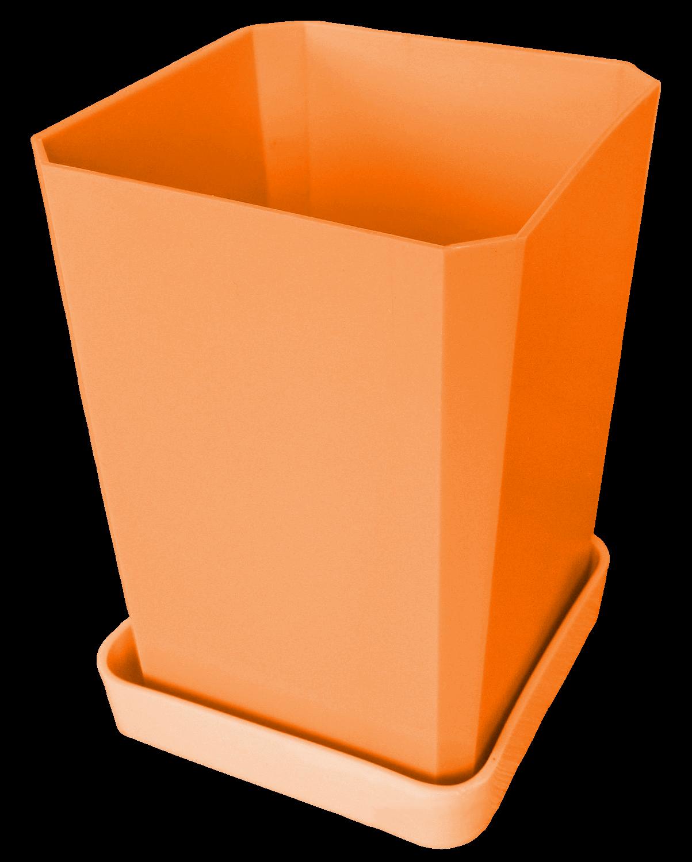 Горшок для рассады, 750 мл, цвет оранжевый