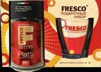 """Подарочный набор """"Fresco"""": кофе """"Fresco. Platti"""", 95 г + кружка"""