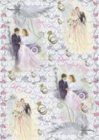 """Рисовая карта для декупажа """"Жених с невестой"""", 21x30 см, 3 штуки, арт. АМ400290 (количество товаров в комплекте: 3)"""